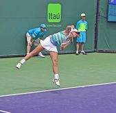 Tennis Serve Follow Through — Stock Photo