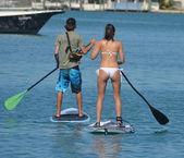 Paddleboarders — Stock Photo