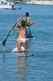 Sobe pensionnaires de paddle — Photo