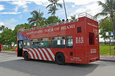 Tour Bus on Ocean Drive — Foto Stock