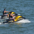 Stock Photo: Cruising Jet Skiers
