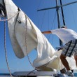 Stock fotografie: Unfurling Main Sail