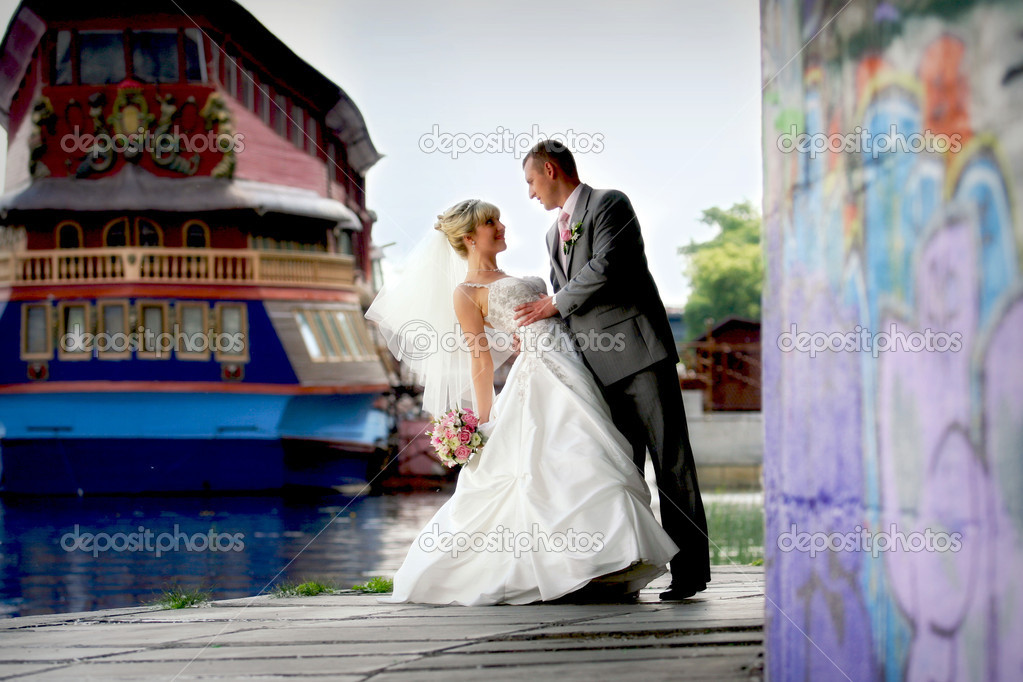 Beautiful wedding couple — Stock Photo #12428476
