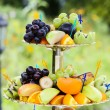 Wedding Fruits at banquet table — Stock Photo