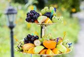 Wedding Fruits at banquet table — Stock Photo