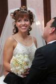 Bride meet the groom — Stock Photo