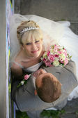 Romantyczny panny młodej i pana młodego — Zdjęcie stockowe