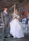 結婚式のカップルのダンス — ストック写真