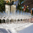 Banquet wineglasses — Stock Photo #30495617