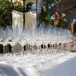 Stock Photo: Banquet wineglasses