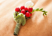 Wedding boutonniere — Stock Photo