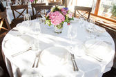 Banquet table — Foto de Stock