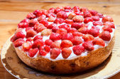 Strawberry pie — Stock Photo