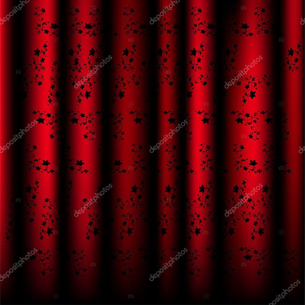 sch ne muster vorh nge rot vektor stock vektorgrafik. Black Bedroom Furniture Sets. Home Design Ideas