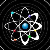 Atom illustration vector — Stock Vector