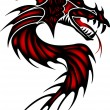Tattoo red dragon — Stock Vector #49491077