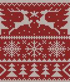 Kerstmis gebreide patroon — Stockvector