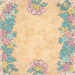 Vintage floral background on old paper — Stock Vector
