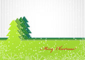 Christmas background with green fir-tree — Stock Vector