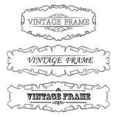 Vintage çerçeve kümesi — Stok Vektör