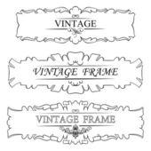 Vintage frame set — Stock Vector