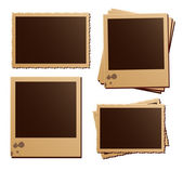 Retro photo frame isolated set — Stock Vector