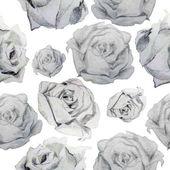 バラのモノクロのパターン — ストックベクタ