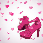 Female shoes background — Vetorial Stock