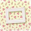 Frame on floral background — Stock Vector
