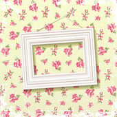 Frame on floral background — Stock Vector