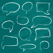 Chalk speech bubbles — Stock Vector
