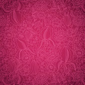 Pink floral pattern — Stock Vector