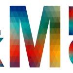 Mosaic alphabet letters K, L, M, N, O — Stock Vector