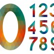 Mosaic number set — Stock Vector
