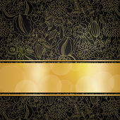 Golden floral background — Stock Vector