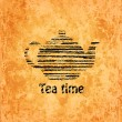 Tea time background — Stock Vector
