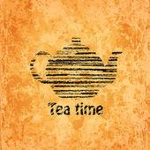 Sfondo di tè tempo — Vettoriale Stock