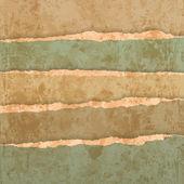 Vieux jeu de papier déchiré — Vecteur