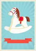 Hobby horse background — Stock Vector