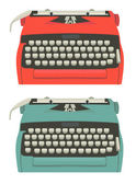 Retro typewriter set — Stock Vector