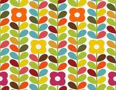 鲜艳的花朵图案 — 图库矢量图片