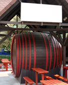 Large wine barrel. — Stock Photo