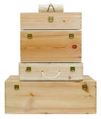 Wooden boxes. — Stock Photo