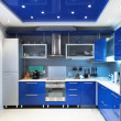 Stock Photo: Modern kitchen interior in blue