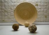 Sommige stro bollen in keuken-stilleven — Stockfoto