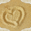 Sand heart — Stock Photo