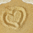 Sand heart — Stock Photo #13706569