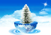 Globe and christmas — Stock Photo