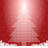 Christmas tree with snowflakes — Stock Vector