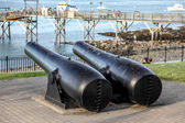 Antique cannon in Bar Harbor — Foto Stock